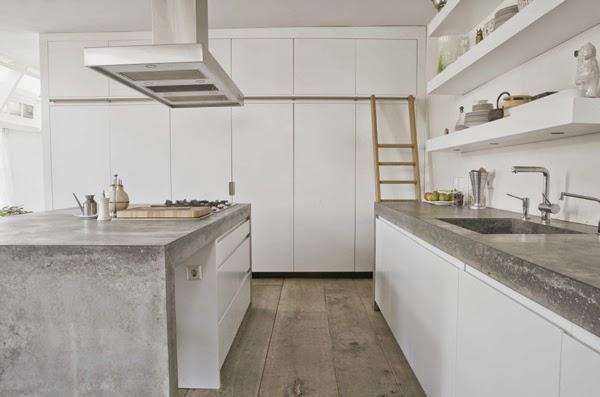 Keuken Met Beton : De vijf mooiste betonnen werkbladen