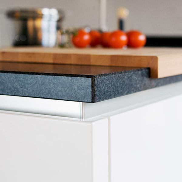 Moderne materialen keukenblad