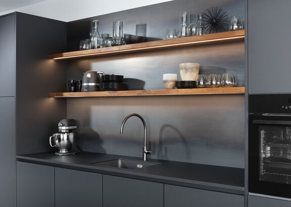 strakke zwarte keuken
