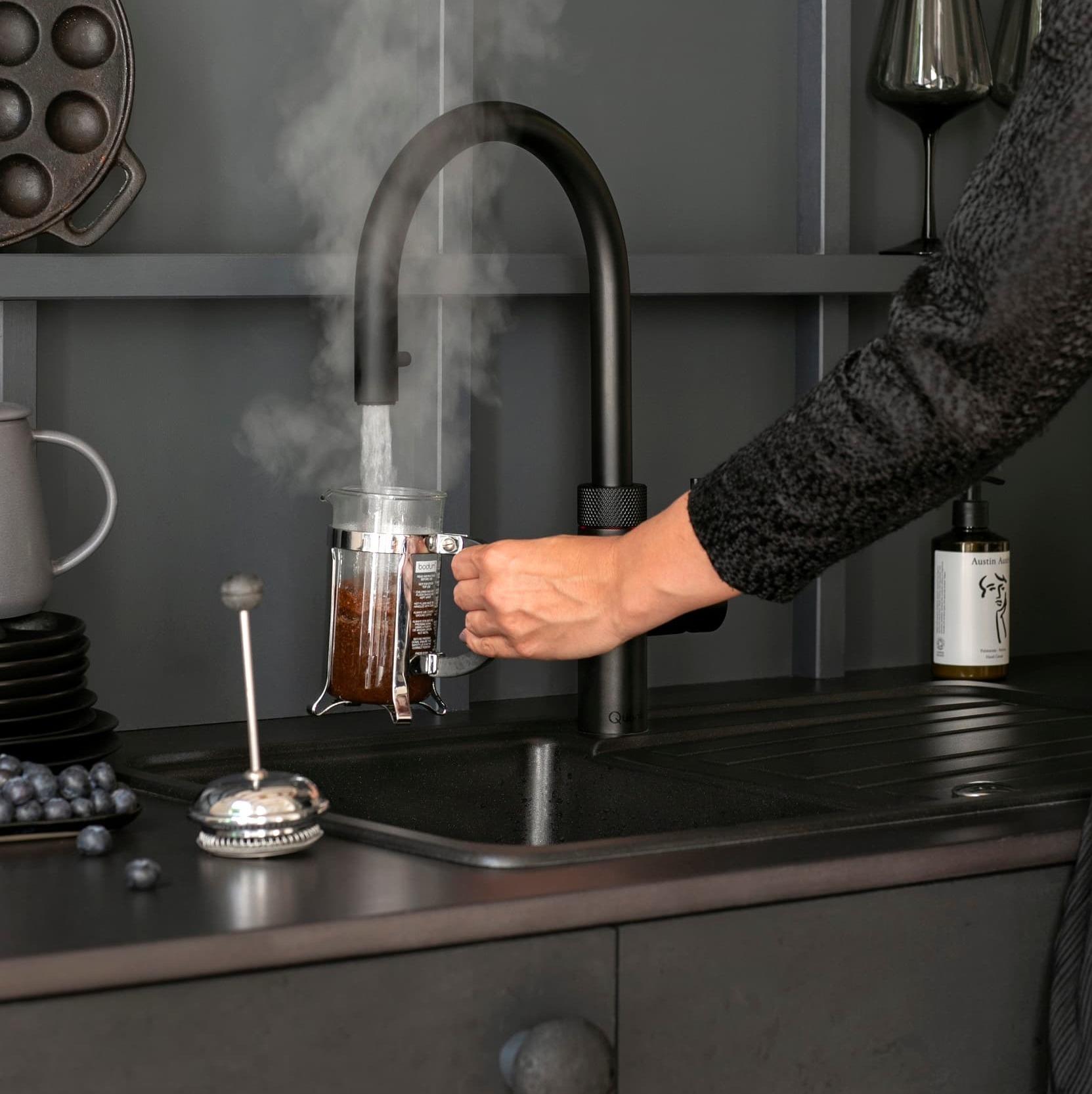 quooker flex black koffie
