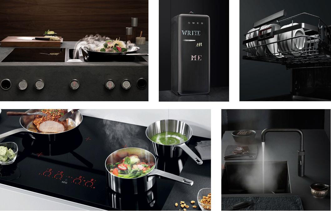 Keuken Apparatuur Merken : Zwarte keukenapparatuur