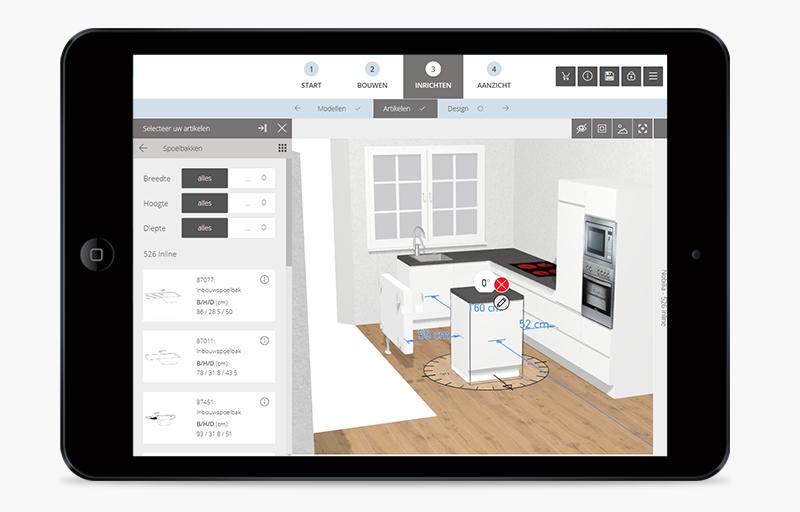 Ontwerp uw keuken in 3d met de gratis en eenvoudige for 3d ruimte ontwerpen