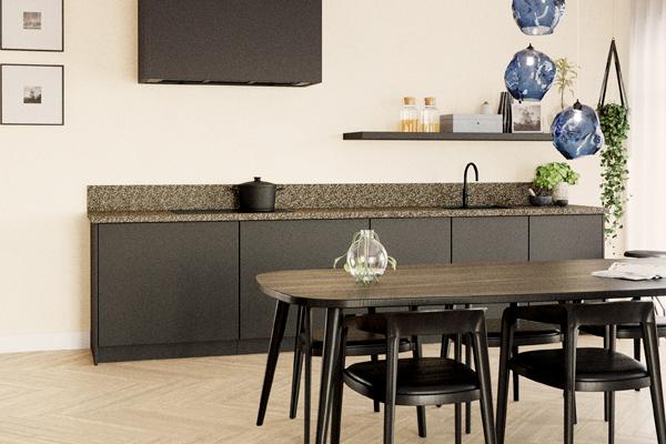 Terrazzo in de keuken