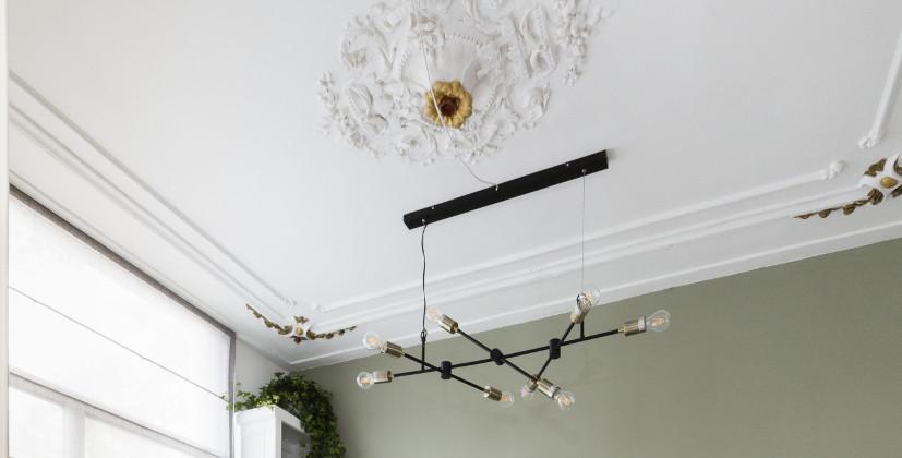 Haarlem woonkamer plafond na verbouwing