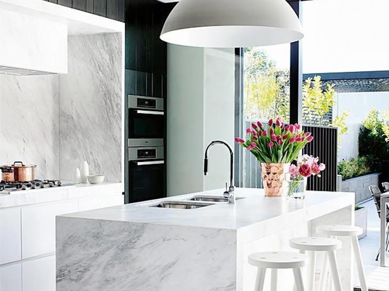 Keuken Marmer Zwart : Marmer in de keuken u mandemakers keukens